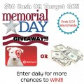 Memorial Day Weekend Cash Flash – Win $40 Cash or Target Gift Card