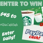 Weekend Cash Flash Giveaway – Win $45 Paypal or Starbucks GC