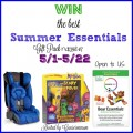 Summer Essentials Prize Pack Giveaway