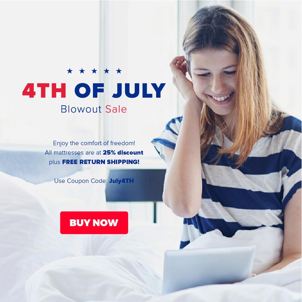 Get 25% Sale on Memory Foam Mattress from Bedding Stock