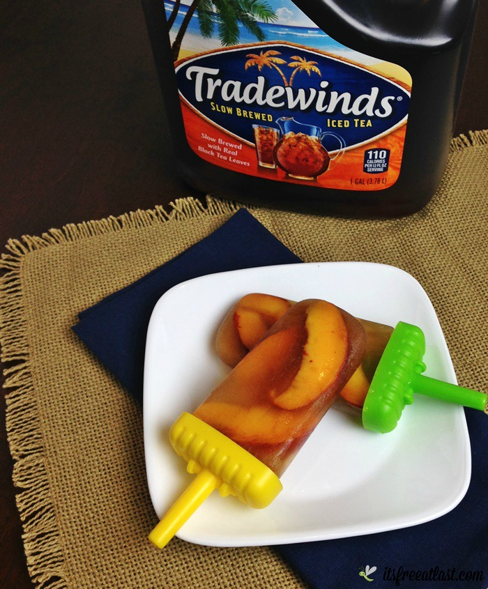Tradewinds Sweet Tea Peach Ice Pops