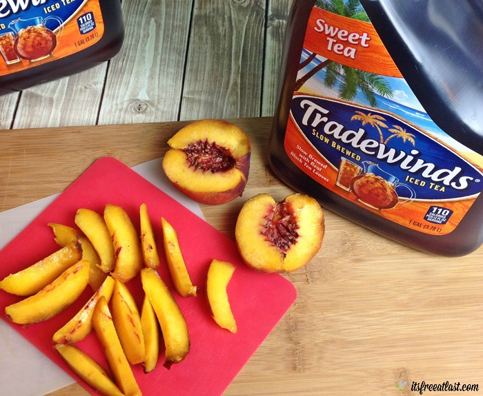 Tradewinds Sweet Tea Peach Ice Pops process