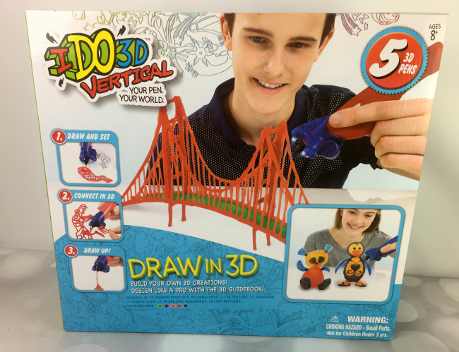 3D Pen with Paper Stencils and Screwdriver / Using Military Motor -  VICTORSTAR RP100A Blue for