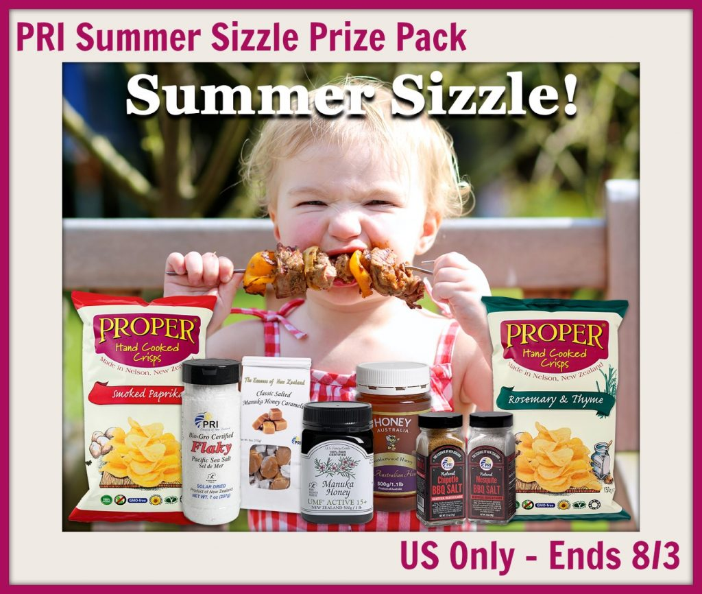 Enter the PRI Summer Sizzle Prize Pack Giveaway. Ends 8/3