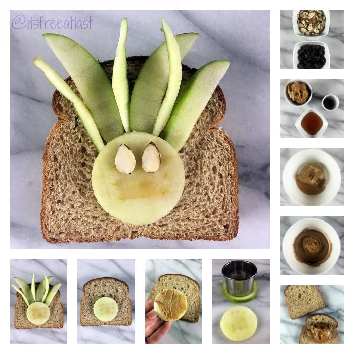 Apple PB Cinnamon Sandwich