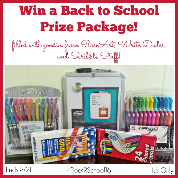 Back to School Prize Package Giveaway