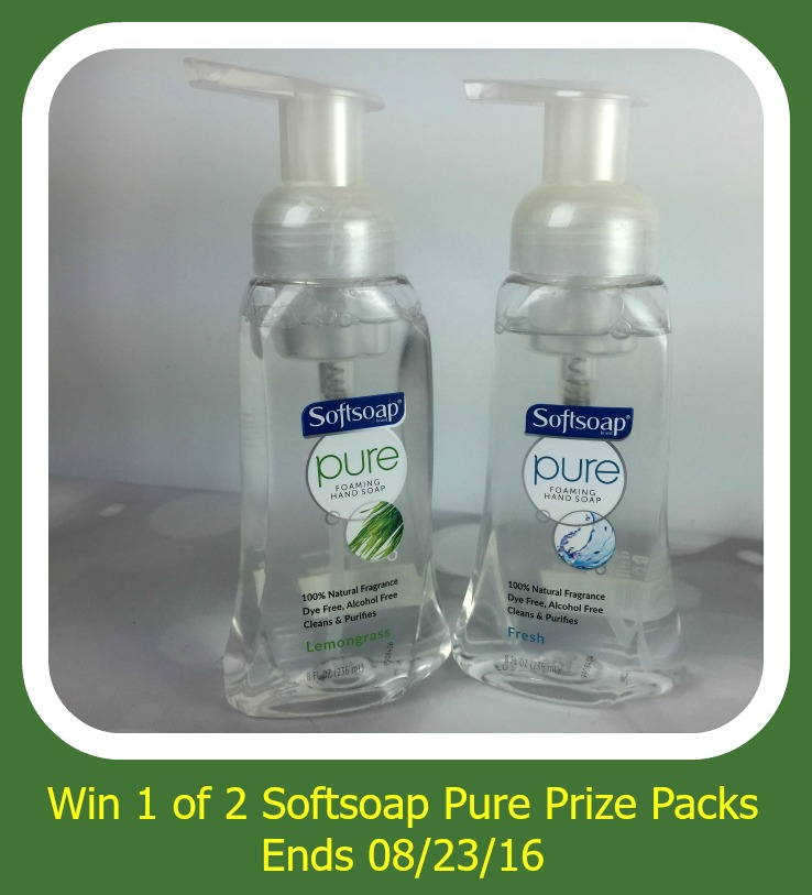 Enter the Softsoap Pure Prize Packs Giveaway. Ends 8/23