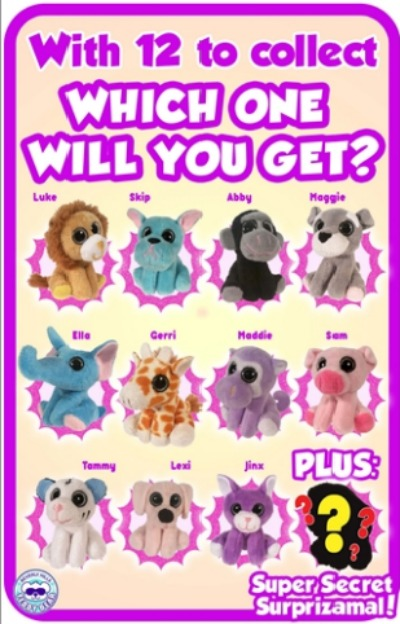 Surprizamals Cuties collector's sheet
