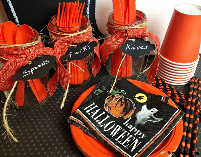 DIY Halloween Utensil Holder for Easy Party Decor!