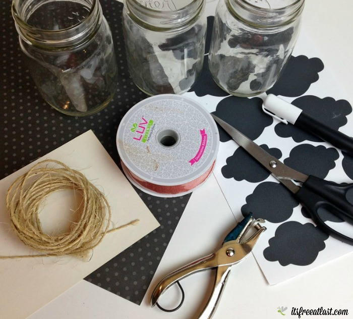 DIY Halloween Utensil Holder supplies