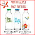 Faucet Face Glass Bottles ($72 arv) Giveaway!