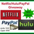 $50 Flash Giveaway for Hulu, Netflix or Paypal