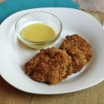 Oven Fried Chicken with Homemade Honey Mustard Sauce