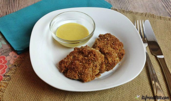Oven Fried Chicken with Homemade Honey Mustard Sauce