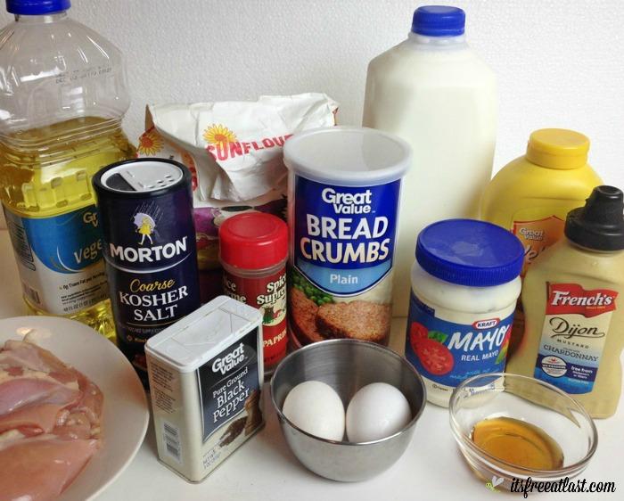 oven-fried-chicken-with-honey-mustard-dip-ingredients