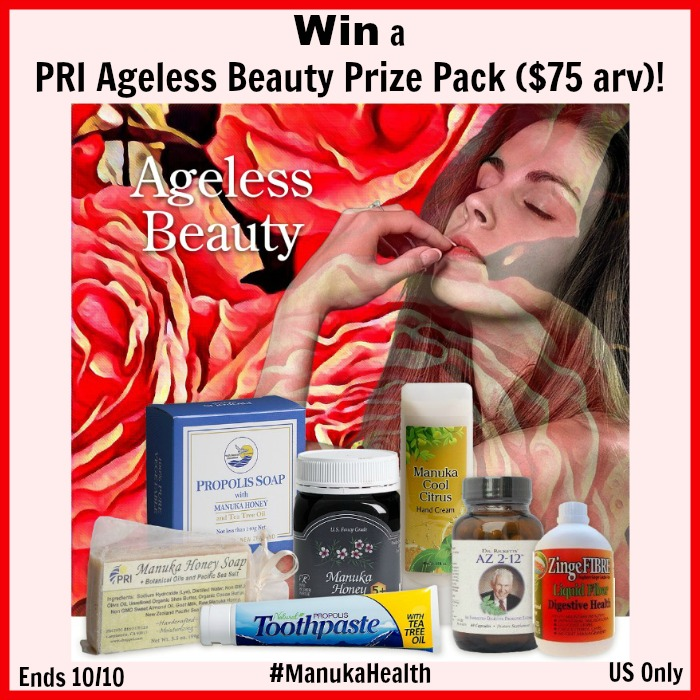 Win an Ageless Beauty Prize Pack ($75 arv) and enjoy Manuka Health