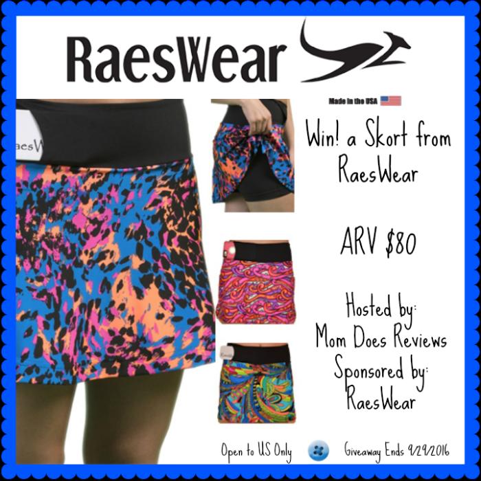#Win a RaesWear Skort - Winner's Choice (arv $80)! - ends 9/29 US Only