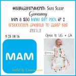 #BabySafetyMonth Safe Sleep Giveaway