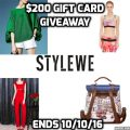 StyleWe $200 Gift Card Giveaway!