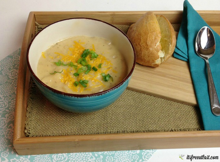 Cheesy Crock Pot Potato Soup Recipe