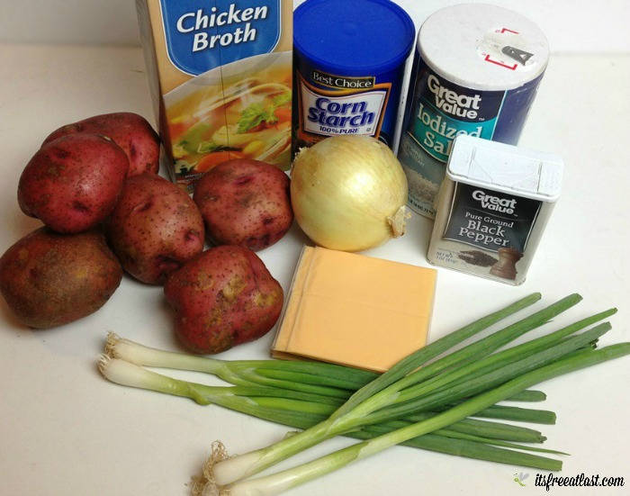 Cheesy Crock Pot Potato Soup ingredients