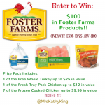 $100 Foster Farms Prize Pack Giveaway!