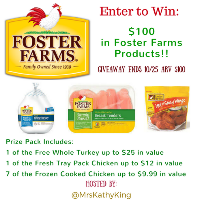 Foster Farms Prize Pack giveaway button