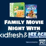 Make Family Movie Night Fun with Kidfresh and Ice Age: Collision Course