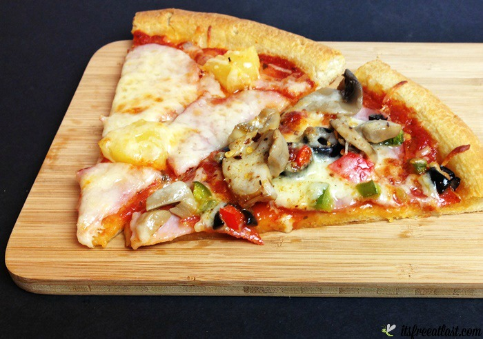 Easy Homemade Pizza with Mama Mary's Pizza Crust - Canadian Bacon Pineapple and Supreme Two Cheese