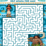 Free Moana Coloring Sheets #Moana – In Theaters November 23rd
