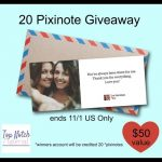 20 Pixinote Credits ($50 value) Giveaway!