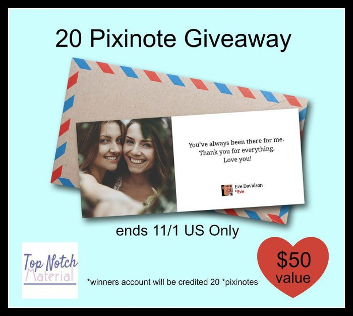 20 Pixinote Credits ($50 value) Giveaway