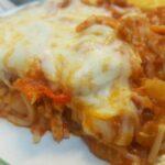 Sausage Spaghetti Bake with al fresco Apple Sausage #Recipe #fightbackbetter