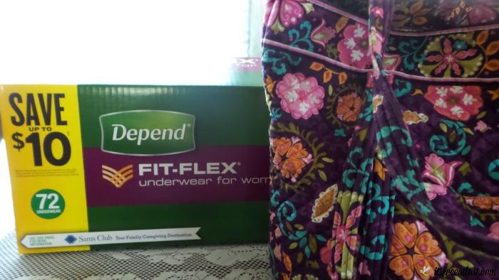 Depend Fit-Flex Underwear for Women with bag
