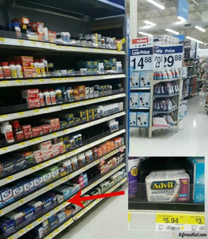 Advil Menstrual Pain on the shelf