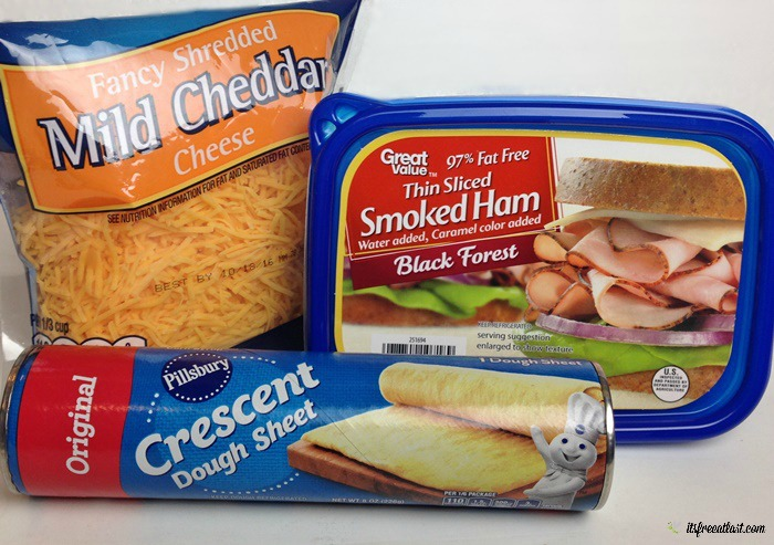Ham and Cheese Pinwheels Ingredients