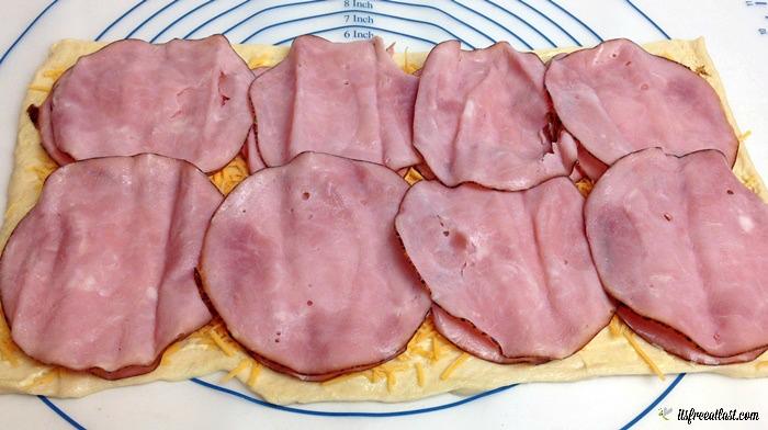 Ham and Cheese Pinwheels process 3