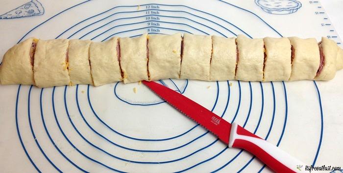 Ham and Cheese Pinwheels process 6