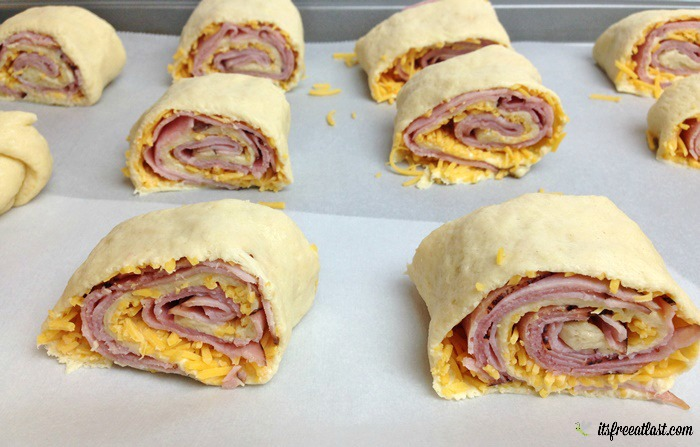 Ham and Cheese Pinwheels process 7