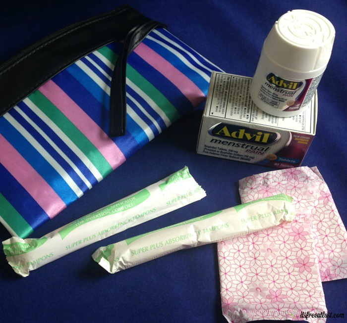 Easy Period Emergency Kit for Active Teenagers with Advil Menstrual Pain