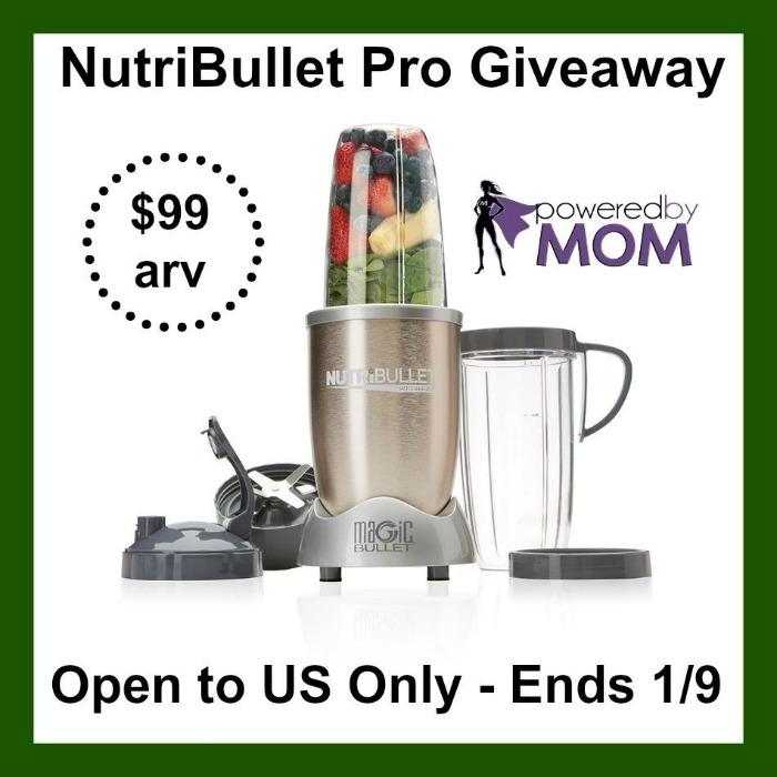 NutriBullet Pro (arv $99) Giveaway!