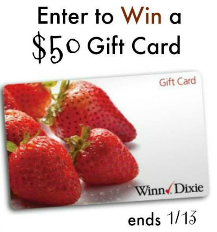 $50 Winn Dixie Gift Card Giveaway button