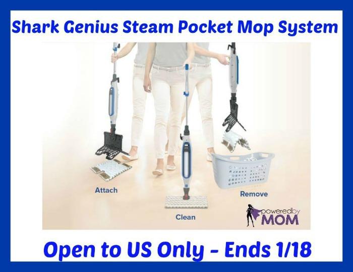 Shark Genius Steam Pocket Mop System giveaway button