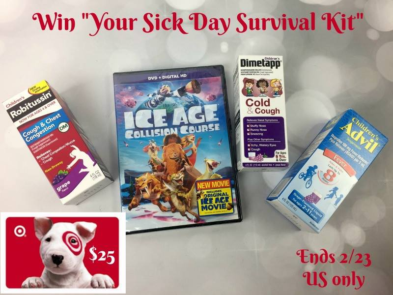 Enter the Your Sick Day Survival Kit Giveaway. Ends 2/23