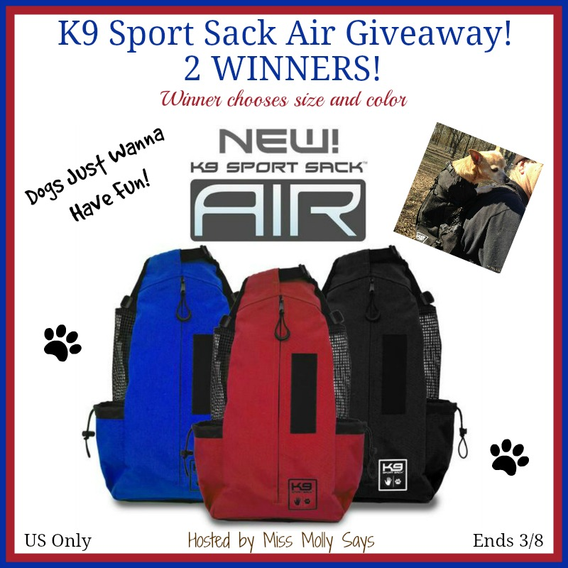 K9 Sport Sack Air Giveaway