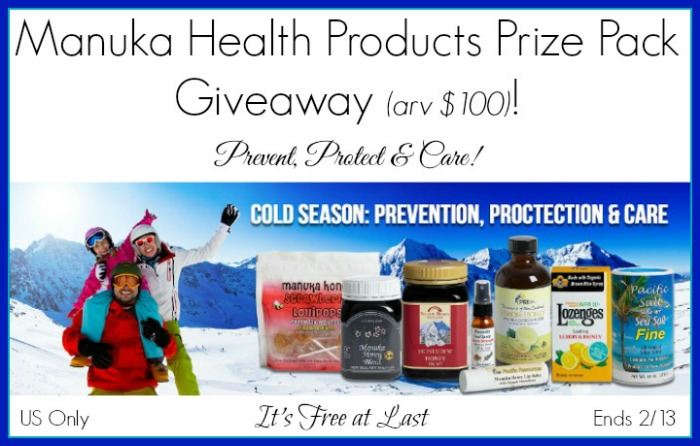 Manuka Health Products Prize Pack (arv $100) Giveaway!