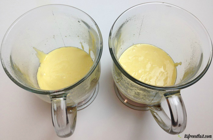Pineapple Upside Down Mug Cakes process