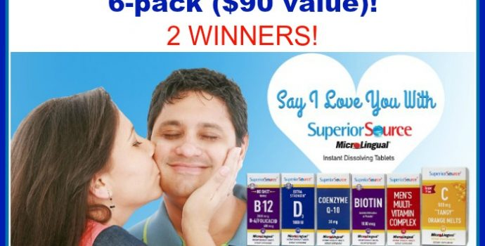 Win a Superior Source Vitamin 6-Pack ($90 Value)! 2 Winners! #SuperiorSource