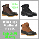 #Win Lugz Mallard Boots!