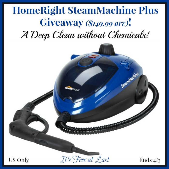 HomeRight SteamMachine Plus Giveaway